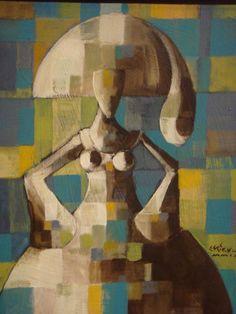 """Acrílico sobre lienzo, de la serie """"Meninas"""" Jorge Espiral"""