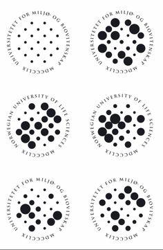 Universitet for Miljø og Biovitenskap. De har udviklet, hvad de kalder for et biogram: et dynamisk logo bestående af 21 cirkler, der skifter størrelse og position hver dag efter input fra datoen, altså talkombinationen.