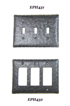 EP4 series Spanish revival rancho rustic wrought iron switchplate triple toggle or GFI