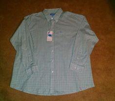 Coast Pawleys Island Sea Green Men's Huntington Shirt Size XXL #Huntington #ButtonFront