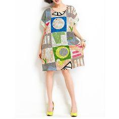 Etuikleider - Frauen Floral Loose Fit Sommerkleid - ein Designerstück von DIYtime bei DaWanda