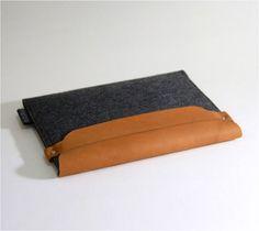 DIY  Funda iPad fieltro  Wool iPad sleeve  pochette iPad feutre 1