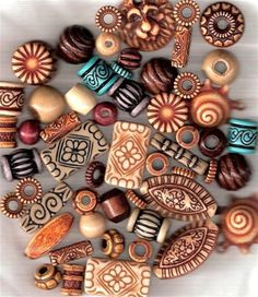 Out of Africa Beads (50-55) for Collage , Jewelry Making and More