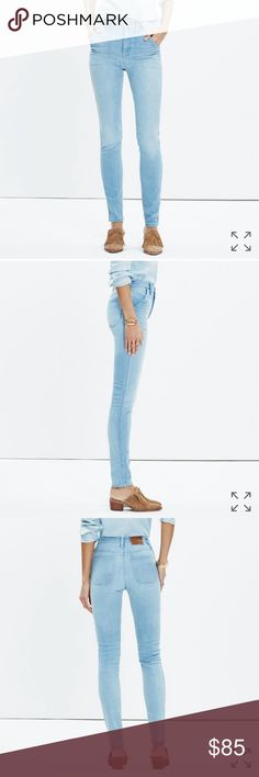 Madewell Rivet & Thread Extra High Skinny Jeans Limited edition and small batch, Rivet & Thread designs are future keepsakes crafted from top-of-the-line fabrics. Take these higher-than-high risers: Made from a special stretchy Japanese denim, they were inspired by a '40s-era pair of vintage jeans, sun-faded wash and all. Madewell Jeans Skinny