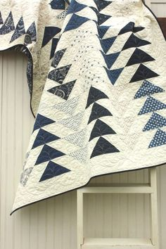 Flying Geese Quilt in the Indigo Crossing collection. @Janiece Jones Wise