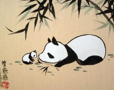 How-to Bamboo is an original brushpainting on gold silk board by Tracie Griffith Tso of Reston, Va.