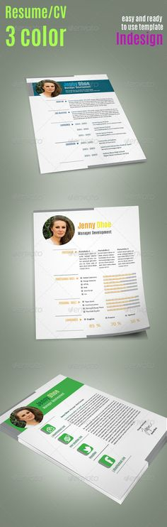 Clean Resume Template Simple resume template, Simple resume and - resume template indesign