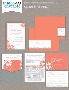 A bright color scheme and a floral motif carried throughout the wedding invitations speaks of love. #botanicalwedding #indigoenvelope