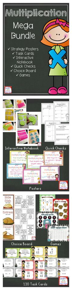 This Multiplication Mega Bundle includes everything that you need to teach and practice multiplication!