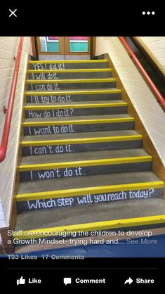 Growth mindset stairs