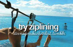 ziplining, beach side