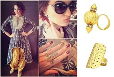 GET THIS LOOK - Sonakshi Sinha accessorises perfectly with rings from Prerto. Shop now: www.perniaspopups... #prerto #jewellery #stylish #designer #perniaspopupshop #happyshopping