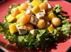 Mango, Melon and Chicken Salad (Low Sodium).