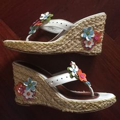 Coach Leather Floral Sandals for sale the cheapest zLCFILDCRh