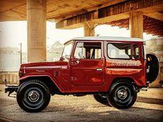 Red FJ40 Toyota Land Cruiser