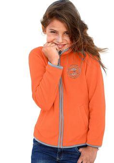 Produkttyp , Fleecejacke, |Qualitätshinweise , Hautfreundlich Schadstoffgeprüft, |Materialzusammensetzung , Obermaterial: 100% Polyester, |Material , Fleece, |Farbe , Orange, |Passform , Schmale Form, |Schnittform/Länge , hüftlang, |Schnittdetails , Einsätze kontrastfarbig, |Ausschnitt , Kapuze, |Kragen , Stehkragen, |Ärmelstil , Langarm, |Armabschluss , Kante eingefasst, |Saumabschluss , Kante...