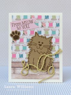 card by Laura Williams featuring cat2stamp from {The Stamps of Life}