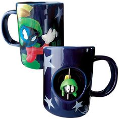 New Marvin The Martian Spinner Coffee Mug Ceramic Looney Tunes Joe Java Cup | eBay