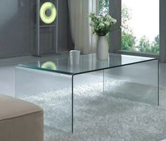 Curvo Glass Coffee Table - contemporary - coffee tables - vancouver - Briers Home Furnishings $395.00