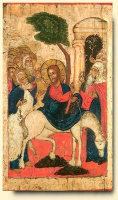 Entry into Jerusalem - exhibited at the Temple Gallery, specialists in Russian icons 46 x 79.2 cm coll été 2007
