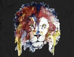 """Check out new work on my @Behance portfolio: """"Watercolor Lion T-shirt"""" http://be.net/gallery/33376875/Watercolor-Lion-T-shirt"""