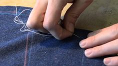 The Making of a Coat #5   Crookening & Markstitching