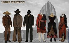 View United*American Costume's authentic period costume rental inventory, available to the motion picture and television industries. Western Costumes, Western Outfits, Saloon Girls, Period Costumes, Westerns, Photo Galleries, The Unit, American, Gallery