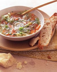 Vegetable Soup with Fennel, Herbs and Parmesan Broth  - Italian Soups from Food & Wine