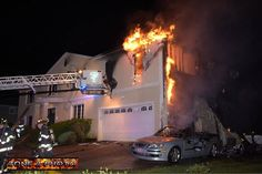 FEATURED POST   @zone2photo -  The Massapequa Fire Department was called to a house fire on Harbor Lane about 11:25 p.m. Wednesday June 14 2017. Firefighters arrived to find heavy fire coming from the second floor of a large two story home. A Saab parked in the driveway also caught fire and was destroyed. Although firefighters were on the scene for several hours it took about an hour to bring the fire under control with assistance from the Seaford and Wantagh Fire Departments at the scene…