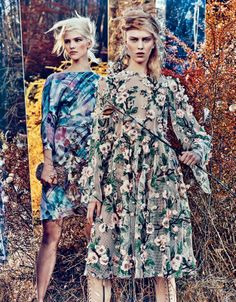 "W Magazine February 2014 ""Field Day"" by Craig McDean"
