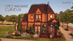 Whatever curiosities you are looking for, at Madame Curieux you are going to find them! This little store is full of magic, plants, antiquities and strange things!And what is behind that strange. What A Beautiful Day, Sims 4 Houses, Sims 4 Clothing, Sims 4 Mods, Madame, Mansions, House Styles, Sims Ideas, Strange Things