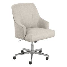 Bring a touch of casual elegance and ergonomic support to your home office with the Leighton Office Chair from Serta. This stylish and comfortable chair features a memory foam seat with lumbar support, swivel function and wheels for mobility. Home Office Chairs, Desk Chairs, Bar Chairs, Desk Chair Target, Room Chairs, Dining Chair, Grey Chair, Furniture Legs, Creative Home