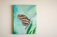 Butterfly Painting on canvas  Small Canvas Art  by Urbanwalldecor