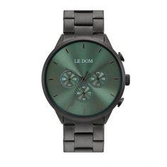 Ανδρικό ρολόι LE DOM LD.1436-4 Principal με πράσινο καντράν, διπλή ώρα, 24ωρη ένδειξη, με ανθρακί μπρασελέ | Ανδρικά ρολόγια Le Dom ΤΣΑΛΔΑΡΗΣ στο Χαλάνδρι #LeDom #Principal #ρολοι #tsaldaris Michael Kors Watch, Watches, Accessories, Clocks, Clock, Watches Michael Kors, Ornament