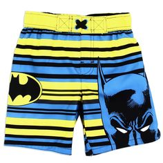 Toddler Boy Swim Trunks, Boys Swim Trunks, Toddler Boys, Sports Car Wallpaper, Batman, Boys Swimwear, Swim Sets, Dc Comics, Kids Fashion
