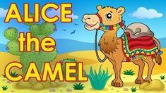 """Alice the Camel"" with easy printable lyrics. Children will learn the moves to this popular song with this fun, action music video!  #brainbreaks"