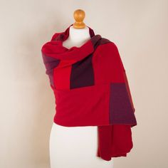 Warm Red Cashmere Wrap