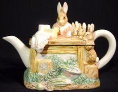 beatrix potter teapot schmid - Google Search
