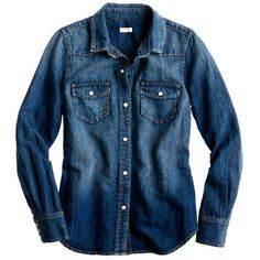 Denim western shirt ❤ liked on Polyvore