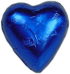 Royal Blue chocolate hearts are creamy milk chocolate in royal blue foil. Add elegance to your special day with chocolate hearts for your wedding bonbonniere. Blue Chocolate, Chocolate Hearts, Chocolate Covered, Azul Real, Calming Colors, Love Blue, Something Blue, Wedding Supplies, Blue Moon