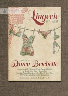 convite de chá de lingerie