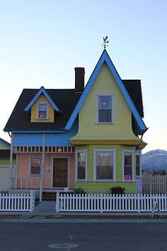 "One of my favorite movies is Pixar's ""UP"". Check out this REAL house in Utah that was built that looks just like the movie!!!"