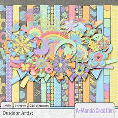 April 12:  Outdoor Artist Kit  #digiscrap #theStudio #DOTD