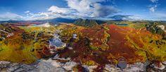 Uzon caldera, Kamchatka, Russia - AirPano.com • 360° Aerial Panoramas • 360° Virtual Tours Around the World
