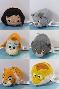 The Jungle Book Disney Tsum Tsum collection to be released in 2016. The characters include Mowgli, Baloo, King Louie, Bagheera, Shere Khan and Kaa.