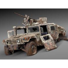 Hummer HMMWV destroyed - 3D Model