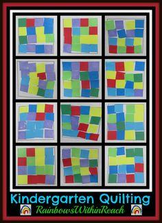 Kindergarten Geometric Quilting: via RainbowsWithinReach Quilt RoundUP