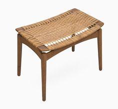 Danish Oak & Cane Stool, 1950s - Benches and Stools - Furniture - Pamono