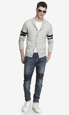The quilted piecing gives these jeans an unbeatable edge. #expressjeans