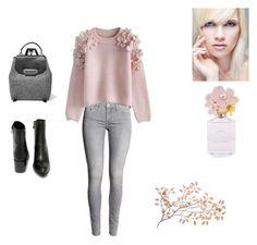 """Pink & Gray"" by sedefolga on Polyvore featuring moda, Chicwish, ZAC Zac Posen, Very Volatile, Marc Jacobs, women's clothing, women's fashion, women, female ve woman"